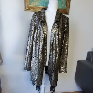 gorgeous gold sequined free people jacket